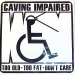 Caving Impared Sticker